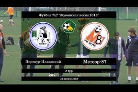 Жуковская весна 2018. Первая лига. 02 тур. Перекур-Ильинский - Метеор-87
